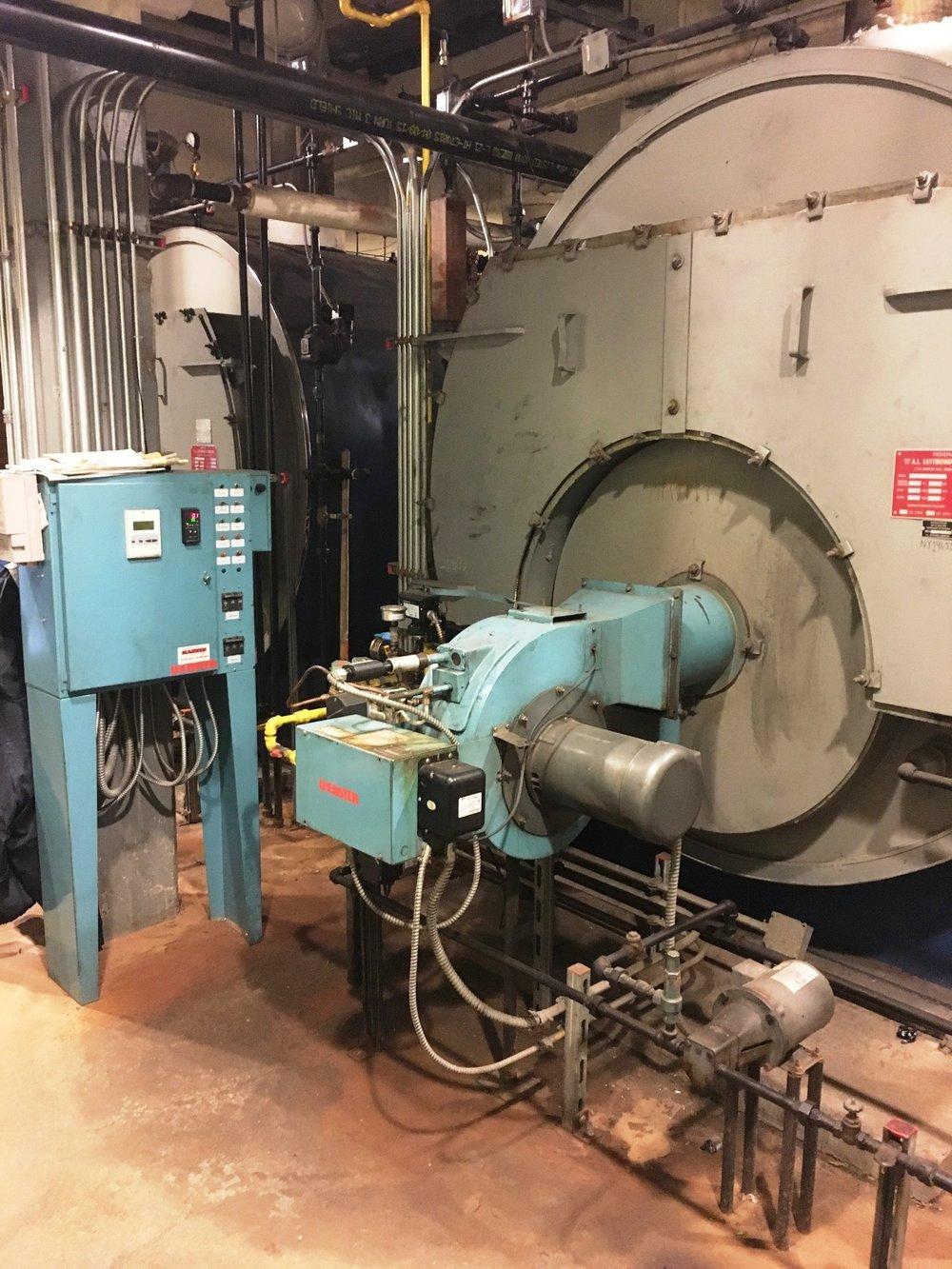 Boiler Retro-Fit before.