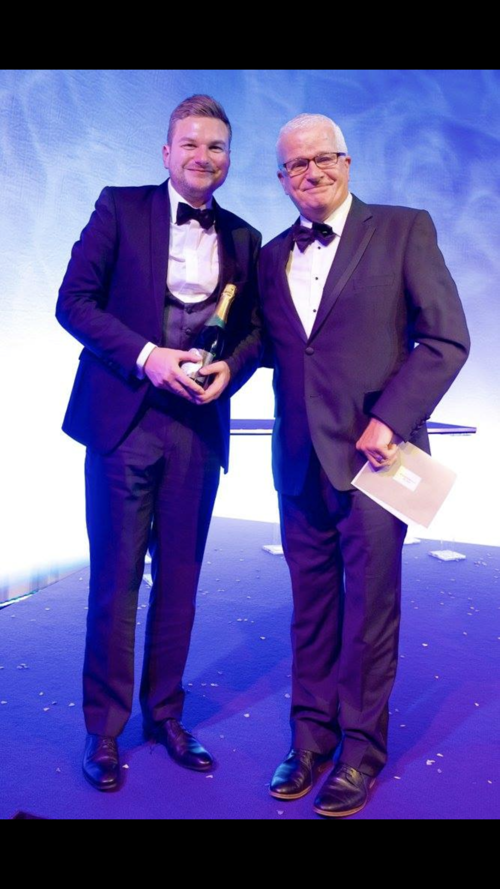 Andrew collecting our award at The Bridal Buyer Awards.