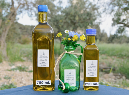 Olive oil direct from the Mount of Olives.