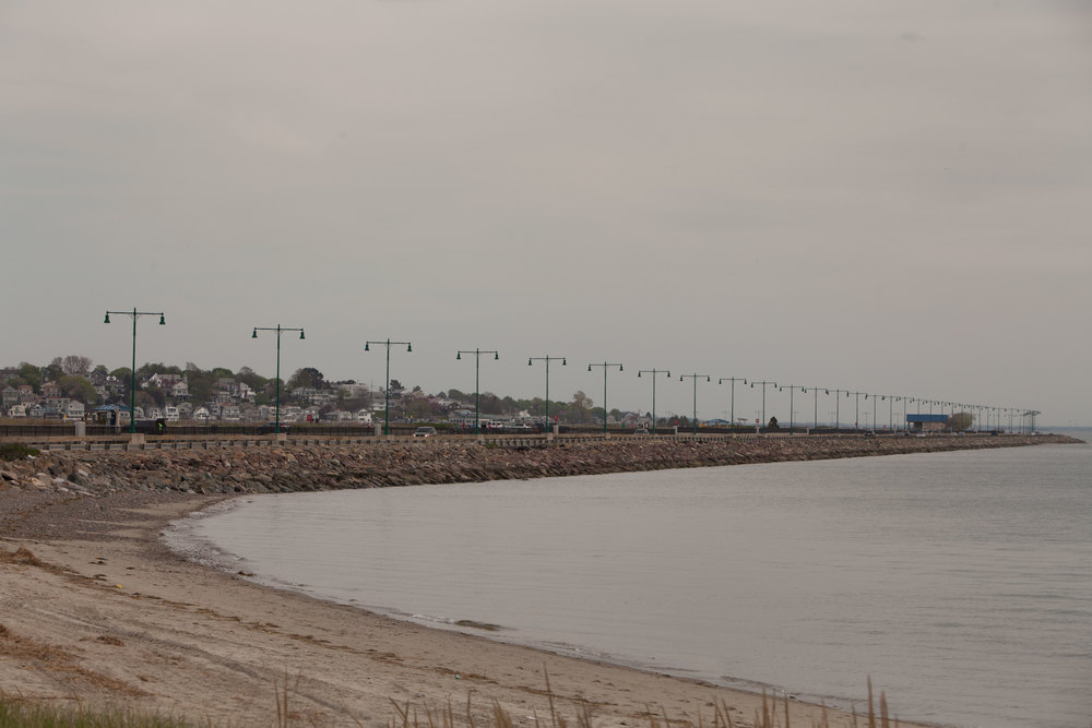 The causeway that connects Nahant to the mainland is occasionally closed because of intense storms. It was recently refurbished and reinforced.