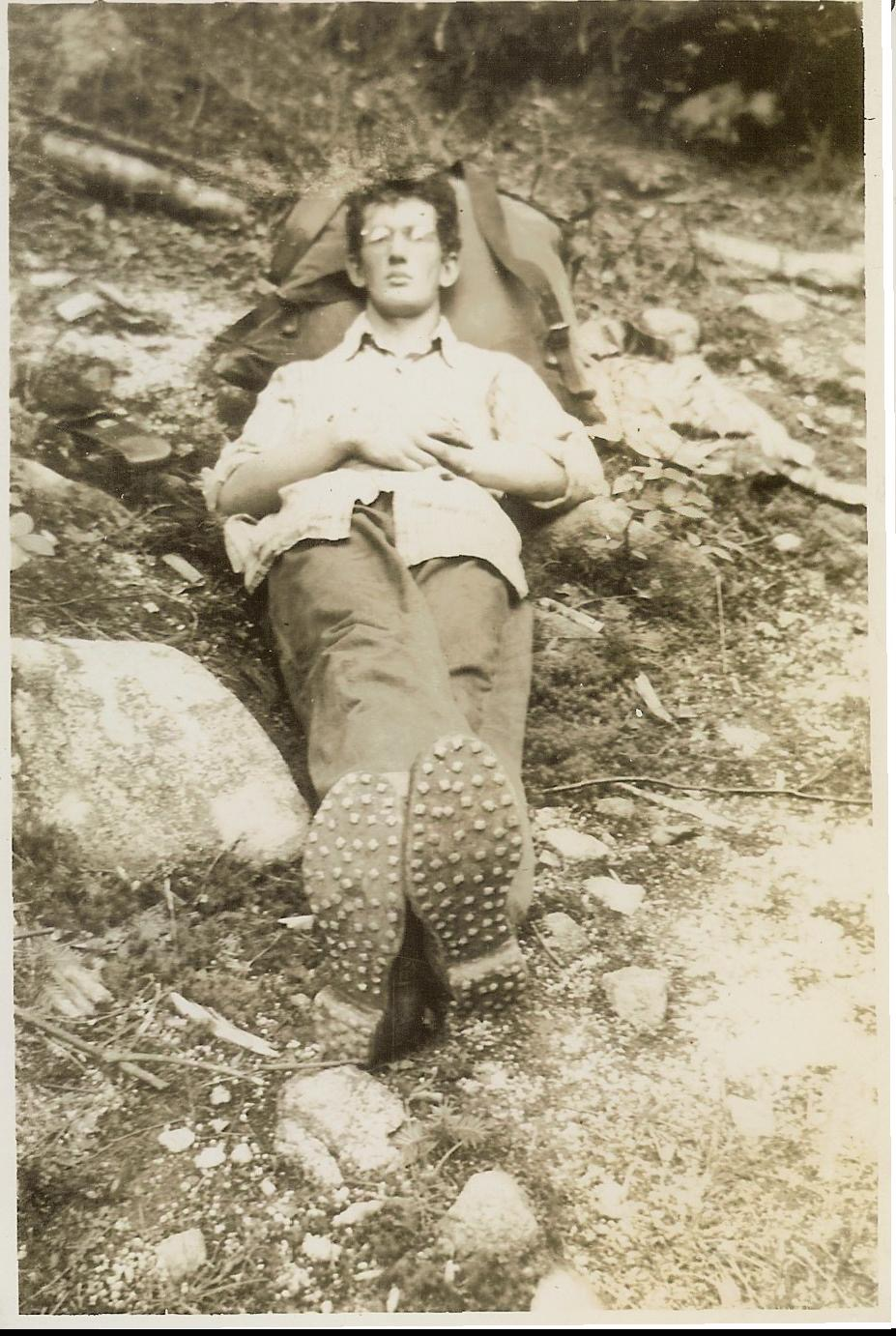 1944 - Ted Brown at Katahdin