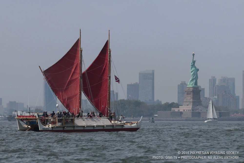 Hōkūleʻa in Manhattan