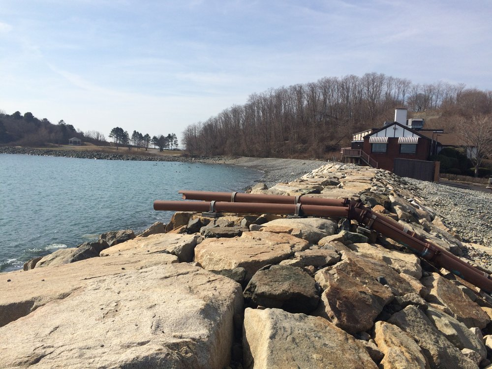 After centuries of habitation, Nahant has built seawalls to protect some of the most flood prone locations. But despite its efforts, it is one of the most at-risk towns in the state. | Photo: Sam Evans-Brown