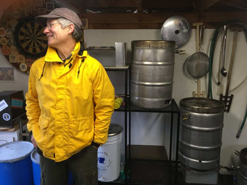 INSIDE KEN HARDCASTLE'S WINE AND BEER MAKING LABORATORY