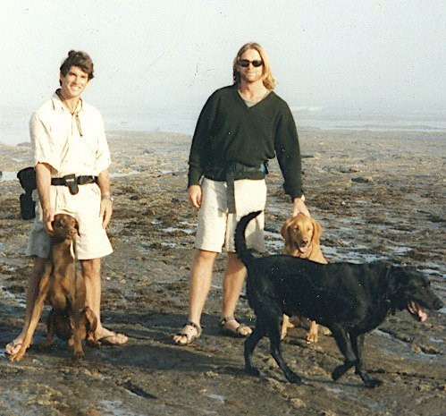 Jeff & J circa 1993 when they were both guiding turtle trips to Pacific Mexico.