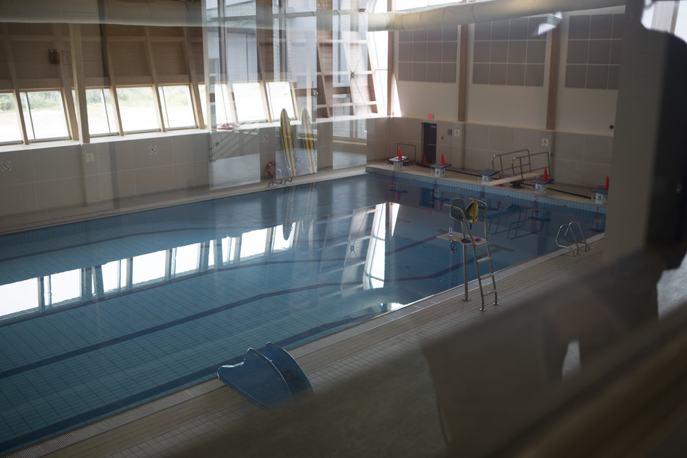 The pool at the Eastmain Community Center