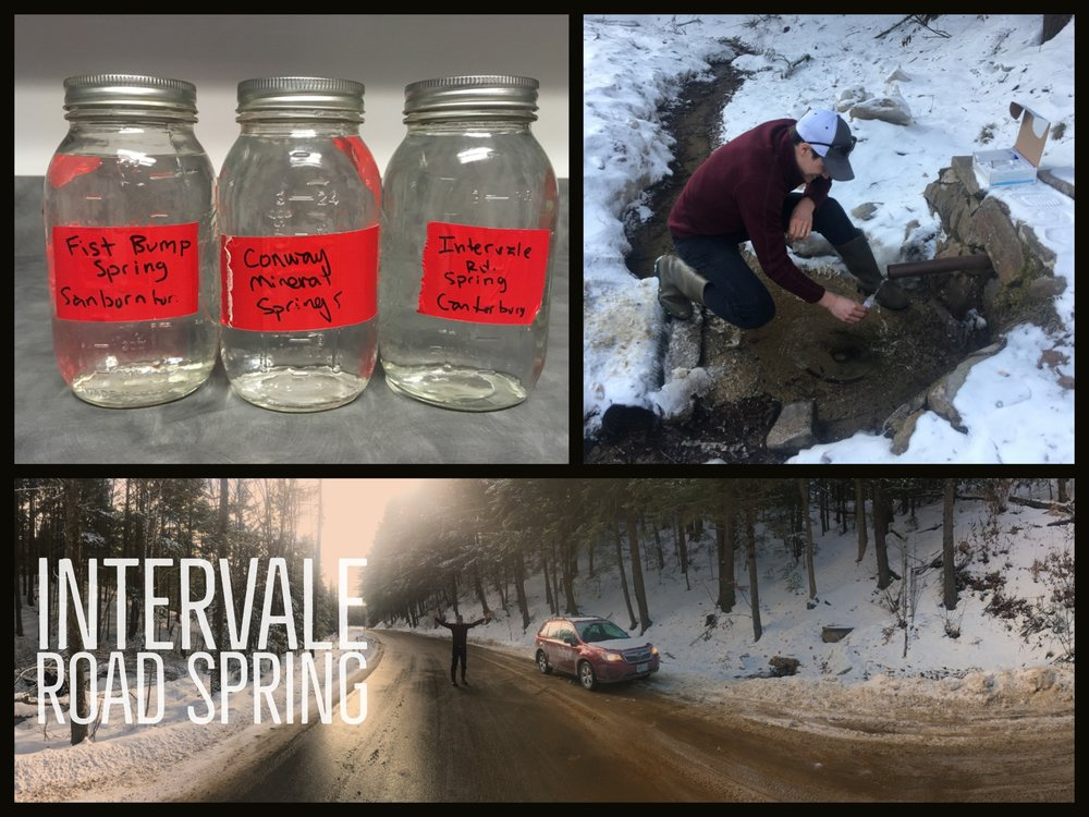 - We had water from the Intervale Road Spring in Canterbury, New Hampshire,tested for a variety of contaminants and found that it did violate EPA standards for Total Coliform Bacteria. Click here to see the complete results.