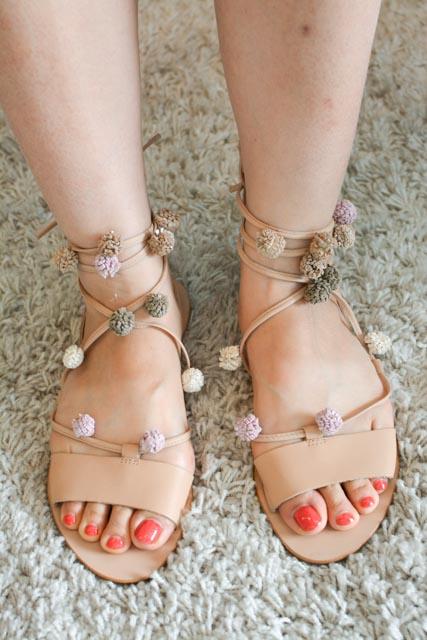 Loeffler Randall Saskia Pom-Pom Sandals Discount Deals Buy Cheap Footlocker Cheap Online Store Excellent Sale Online 5rIg3ajS