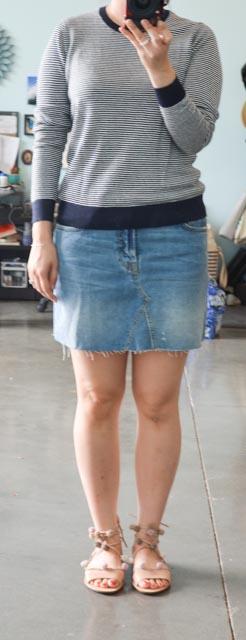 c304cce195b Everlane Linen Crew Neck Sweater and Indigo Linen Shirt Dress Review ...