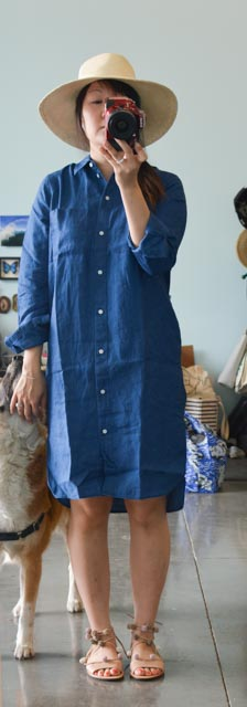 Everlane Linen Crew Neck Sweater And Indigo Linen Shirt
