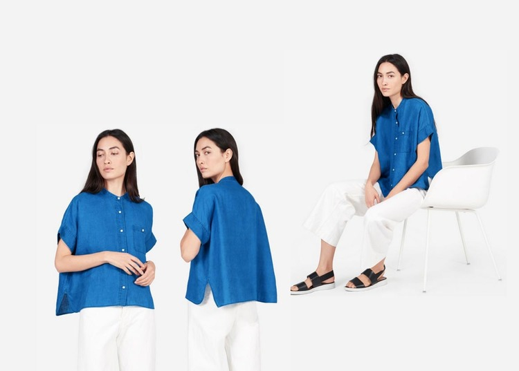 088ab0f7f4b Everlane Linen Collarless Square Shirt Review — Temporary-House Wifey