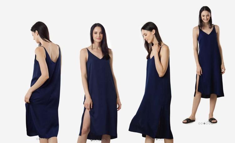 3cd0f3837205 Grana Silk V-neck Slip Dress Review — Temporary-House Wifey