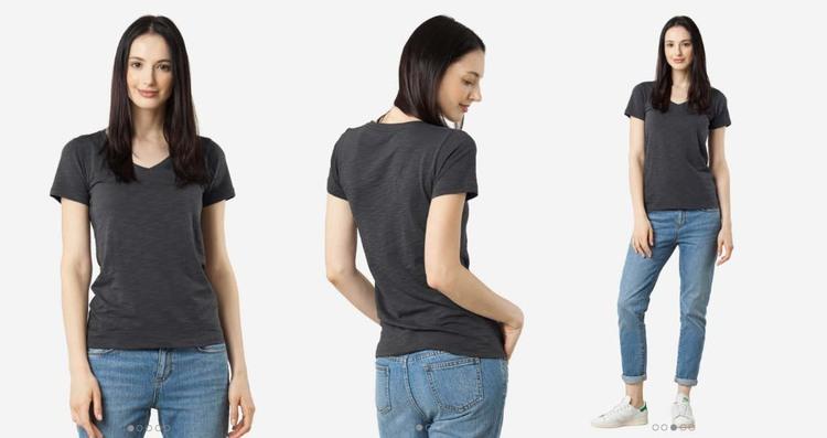 Grana Review Pima Slub V Neck T Shirt Temporary House Wifey