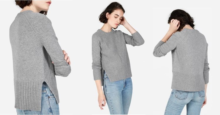 Everlane Ribbed Wool Cashmere Crew Sweater Review — Temporary ...