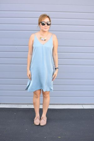585068536ab0 Grana Silk Mini V-neck Slip Dress Review — Temporary-House Wifey