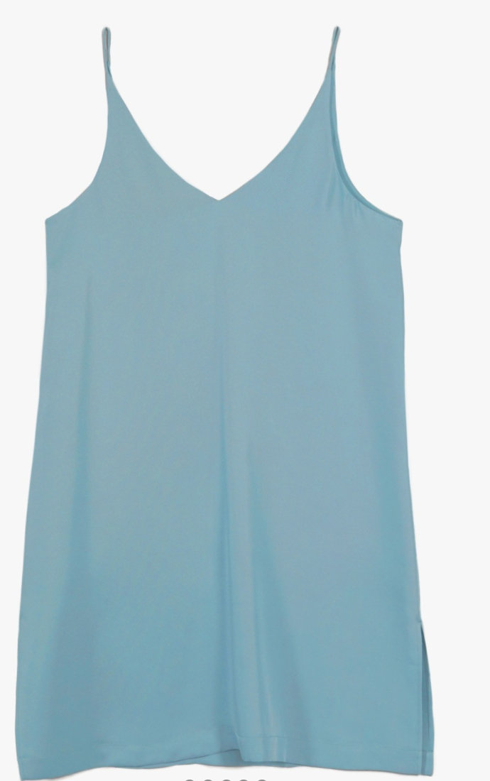 Grana Silk Mini V-neck Slip Dress Review Here