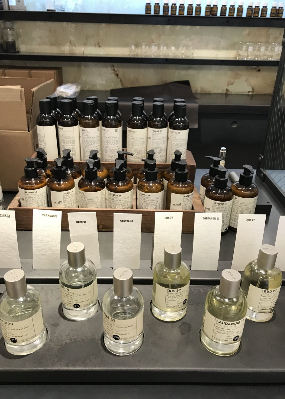 Visited Le Labo in Nordstrom this past week to restock on my lotions (which  I talked about last weekend )