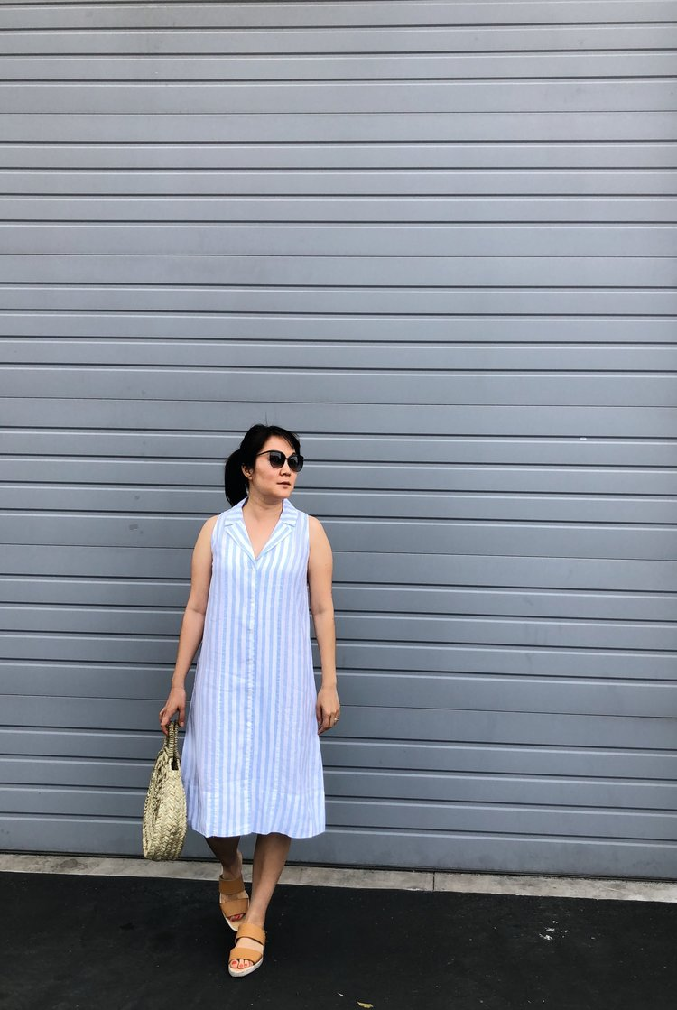 Everlane Review The Linen Sleeveless Shirtdress Temporary House Wifey