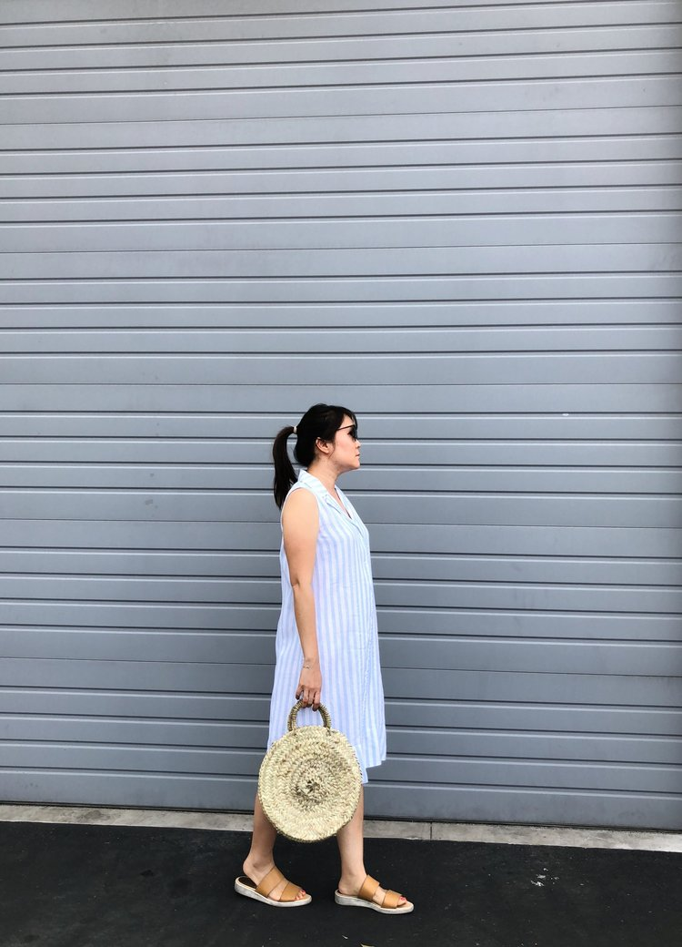 dbef307fb5d Everlane Review  The Linen Sleeveless Shirtdress — Temporary-House Wifey