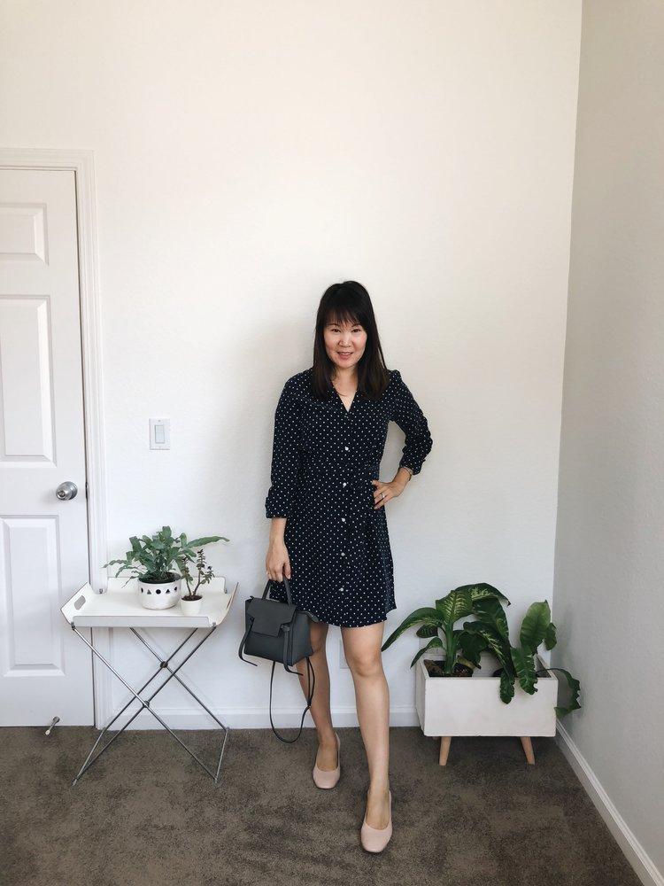 db971b0f0d4 Everlane Review The Polka Dot Shirt Dress — Temporary-House Wifey