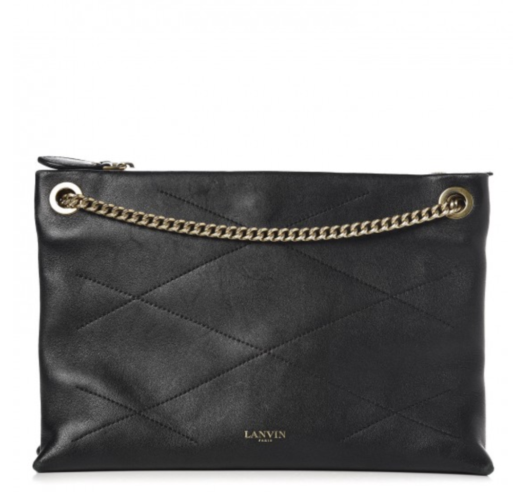 Lanvin Quilted Sugar Shoulder bag ($450)