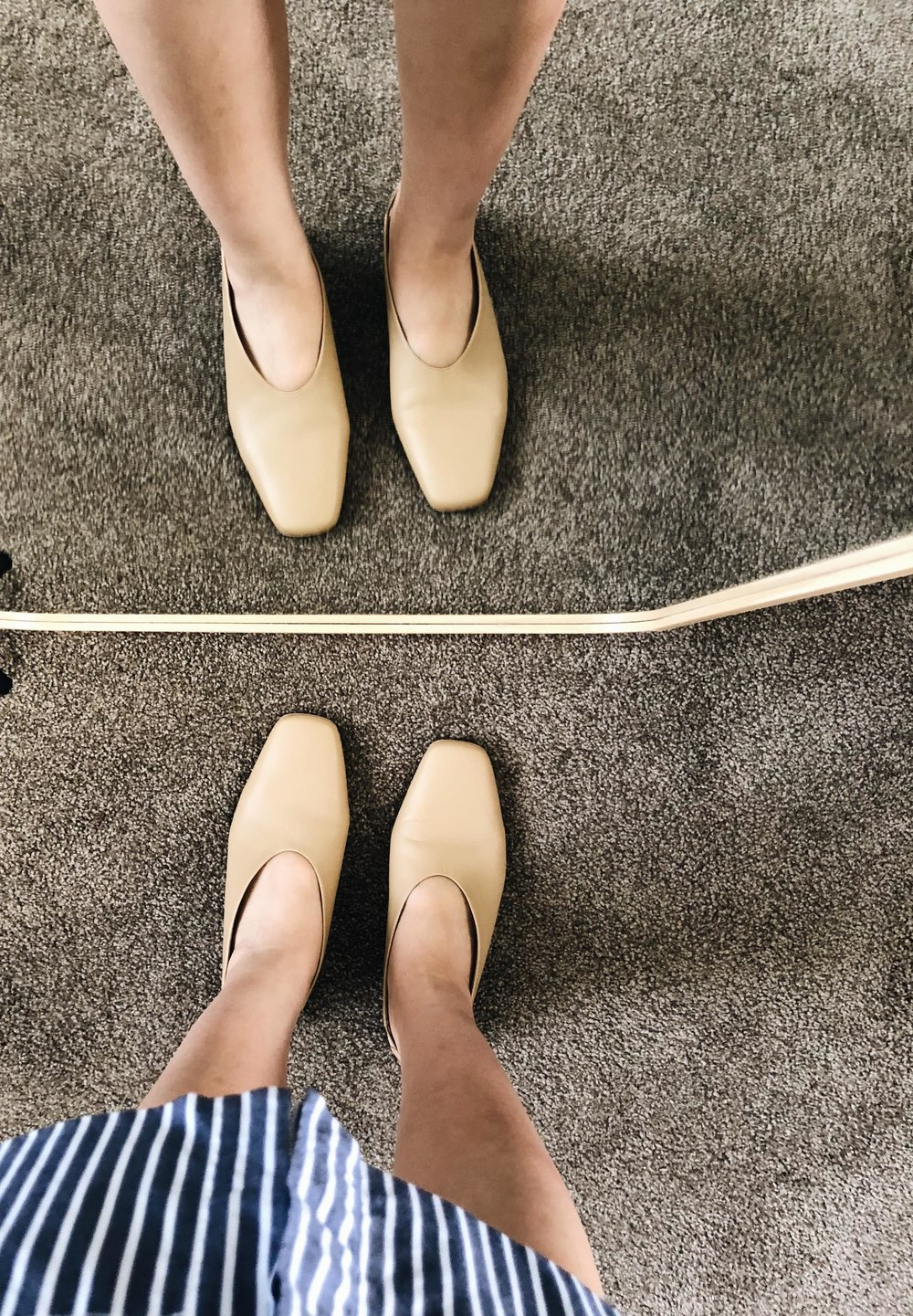Everlane Review Square Toe Slingback