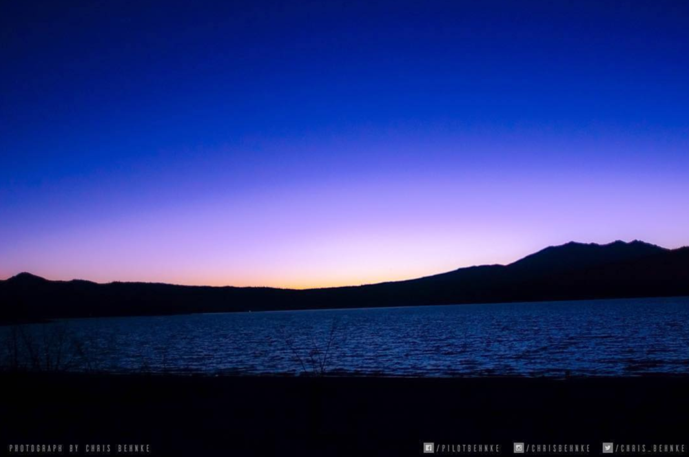 Beautiful sunset over Crecent Lake Oregon.