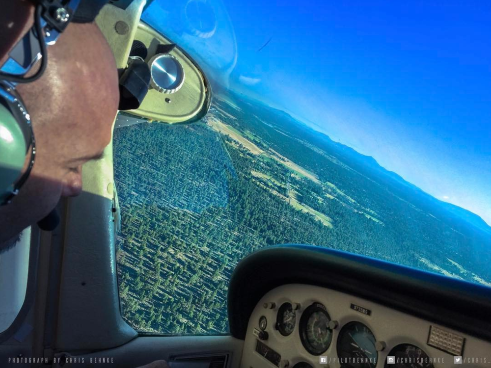 Enjoying some time in the air over incredible Central Oregon in the Cessna 172! #thisiswhyifly