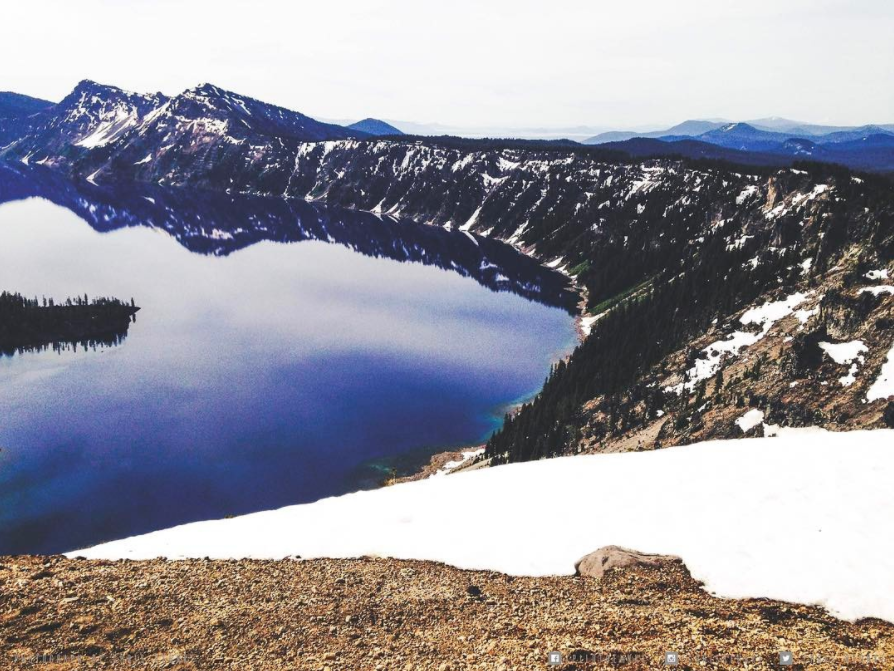 Love the winter view over Crater Lake Oregon.
