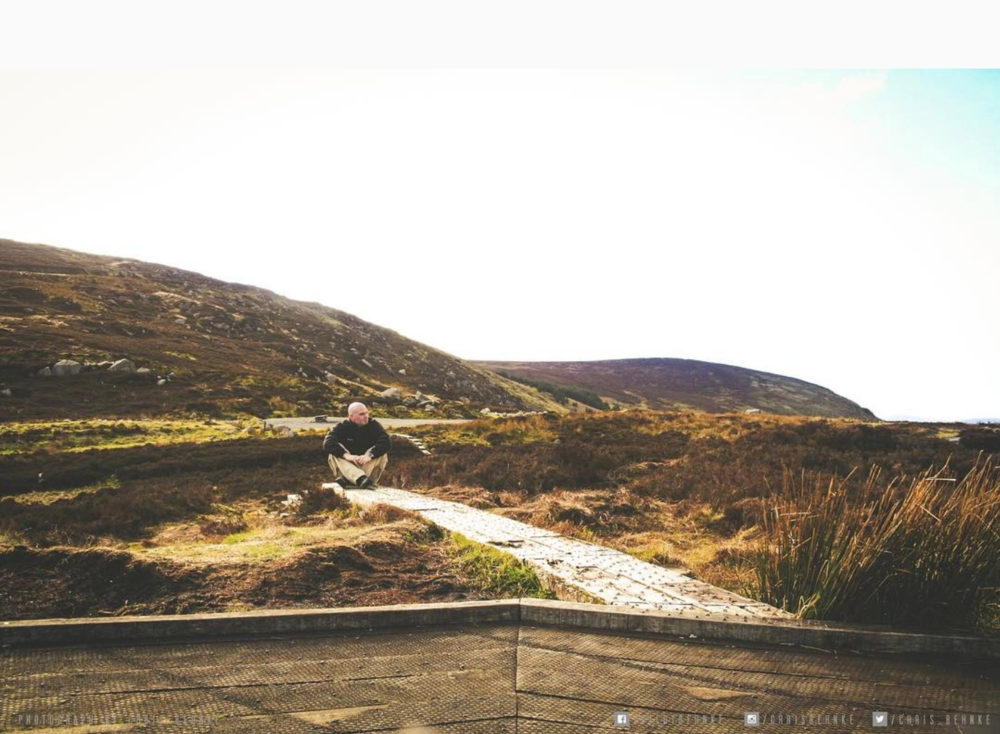 Taking some time to think, random stop in the back country of Ireland.