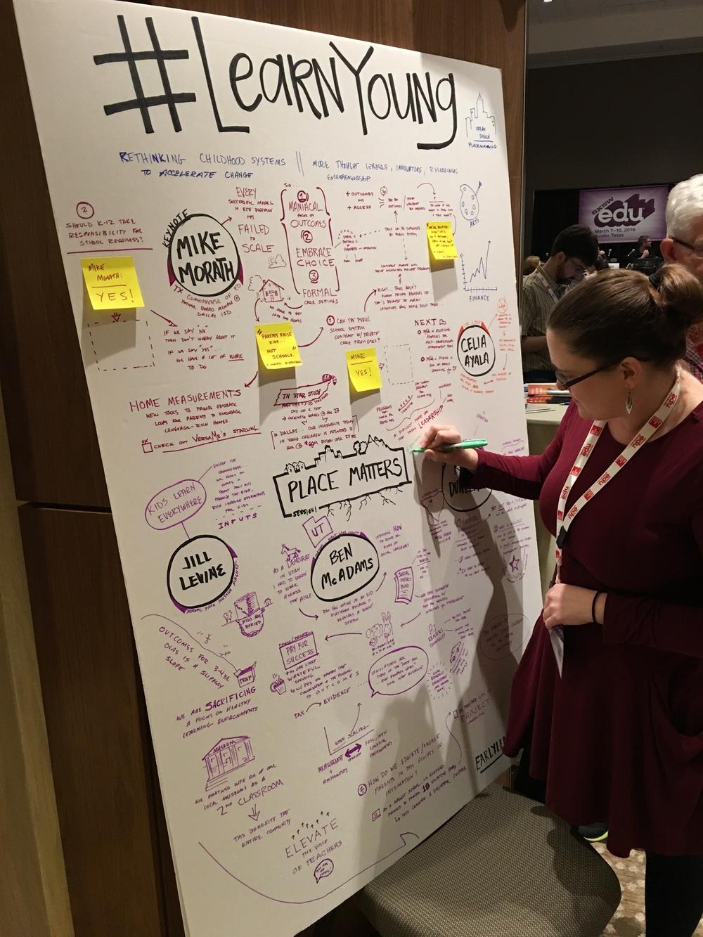Mindmapping @ SXSWedu Early Learning Summit