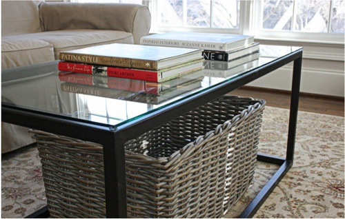 glass top oil-rubbed bronze coffee table — reedy river design