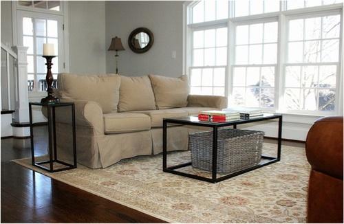 glass top oil-rubbed bronze coffee table — reedy river design