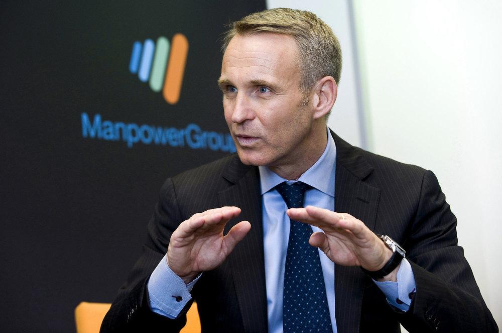 ManpowerGroup's CEO, Jonas Prising