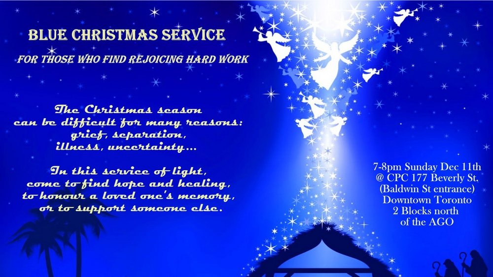 blue christmas service sunday dec 11th 700pm - Blue Christmas Service