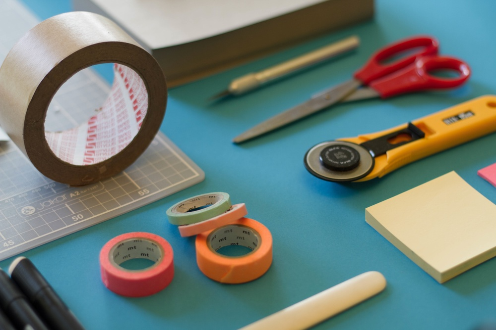 4.  Tape to mark ergonomic placement of items in work area.