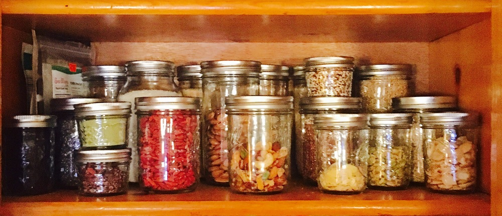 AFTER - All that mess fit perfectly into 25 wide-mouth mason jars
