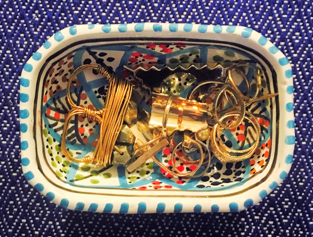 I got this little dish at EXPO in Milan last summer. It was handmade in Tunisia and holds rings like a dream!
