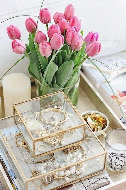 Glass box jewelry storage