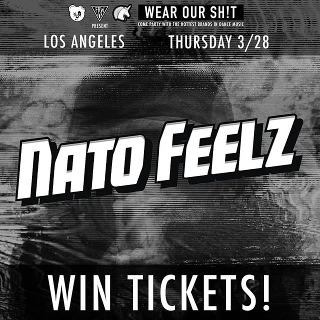 playing in LA a week from today!  tag 2 friends for a chance to win tix for all 3 of you! . . . . #wearourshit #dubstep #natofeelz #figure #dodgeandfuski #dtla #scummybears