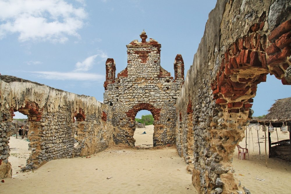 Dhanushkodi is an abandoned town at the south-eastern tip of Pamban Island. Following this disaster, the Government of Madras declared Dhanushkodi as Ghost town and unfit for living. Only a few fisherfolk now live there. There are several temples associated with Lord Rama around Rameswaram. An average of about 500 pilgrims visit Dhanushkodi daily, with the number in the thousands during festival days, such as new and full moon days.
