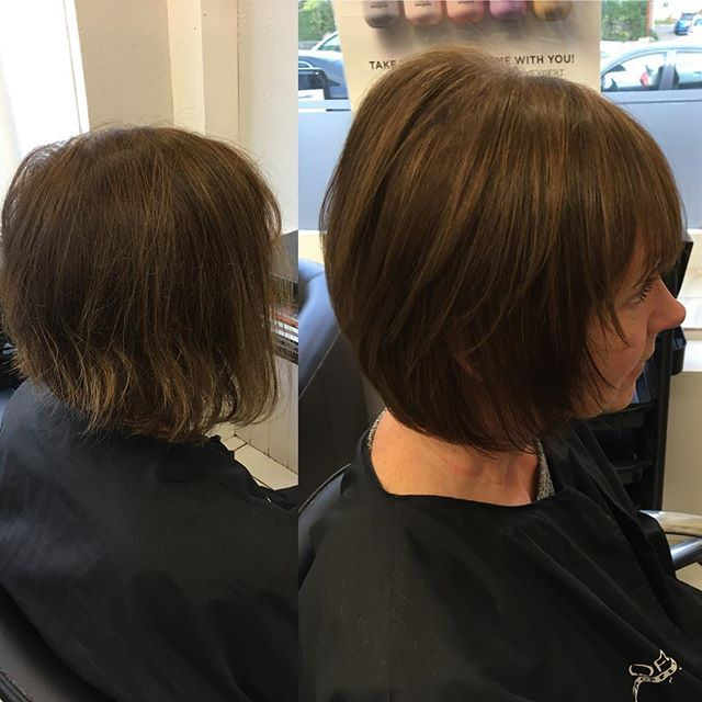 From inverted bob to soft layers and fringe. A great way to change up your look!! Done by Samantha @trimmershairdressers  #newlookhair #softlayers