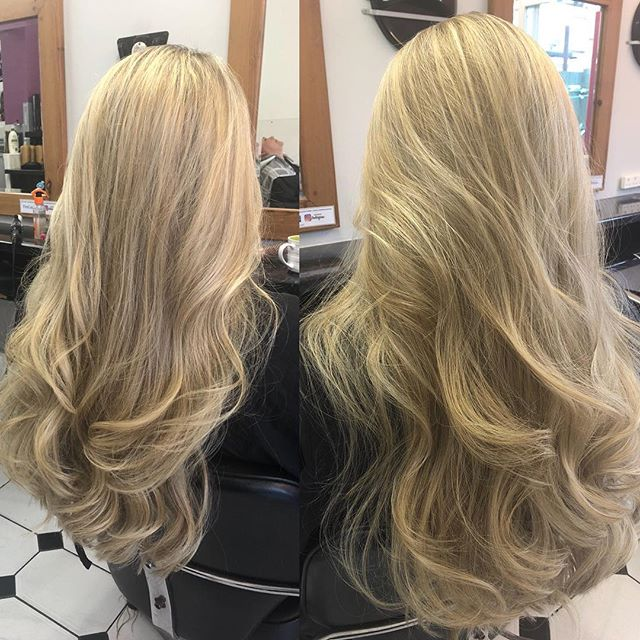 Super long mermaid hair, with full head of highlights. Done by Chrissy @trimmershairdressers #mermaidhair #superlonghair