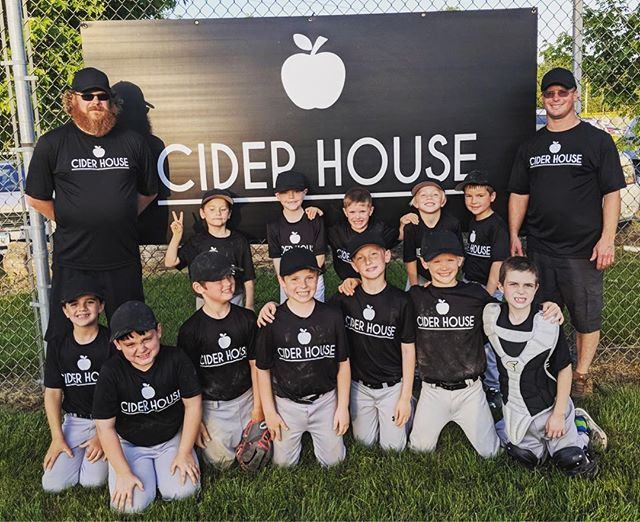 Go Team Cider House ⚾️ #baseball #team #players #littleleague #teamciderhouse #batterup #letsplayball #takemeouttotheballgame #herewegoteam #fairfield #iowa #sports #fun #summertimefeels #nostalgia