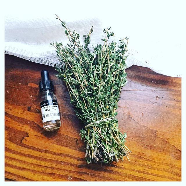 It's those simple things in life. ✨👌🏻 #herbalife #thyme #herbalgypsies #faceoil
