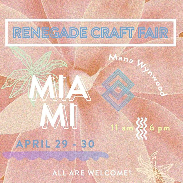 Ecstatic to announce that Herbal Gypsies will be featured at the @renegadecraft in Miami this year! It's been a dream to be a part of talented artists/makers/foodies alike around the United States in some of the best cities in the country. I couldn't be more thankful to have the opportunity for you all to see what's coming and be a part of the magic. Let the madness begin! 💖⠀⠀⠀⠀⠀⠀ ⠀⠀⠀⠀⠀⠀ #renegadecraftmiami ⠀⠀⠀⠀⠀⠀ ⠀⠀⠀⠀⠀⠀ ⠀⠀⠀⠀⠀⠀ #herbalgypsies #craftfairs #Miami #localbusiness #womeninbusiness #smallbusiness #organic #skincare #greenbeauty #