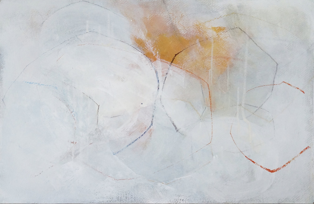 Bild Nr. 038, o.T., Acryl/Graphit/Ölkreide/MDF, 2015, 65x100cm