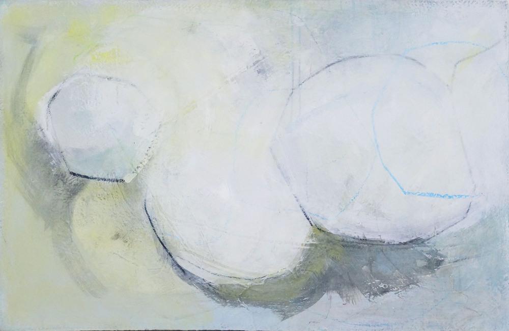 Bild Nr. 039, o.T., Acryl/Graphit/Ölkreide/MDF, 2015, 65x100cm