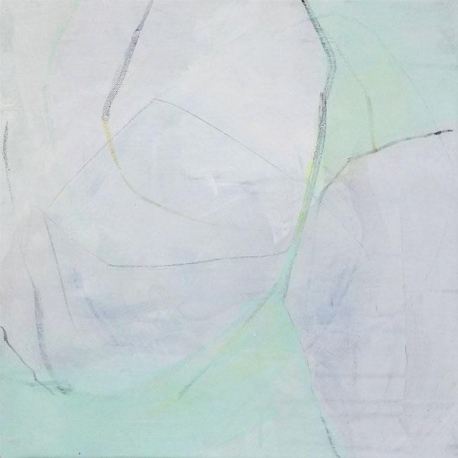 Bild Nr. 029, o.T., Acryl/Graphit/Ölkreide/Leinwand, 2015, 40x40cm