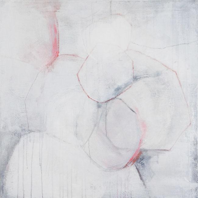 Bild Nr. 035, o.T., Acryl/Graphit/Ölkreide/Leinwand, 2015, 80x80cm